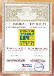 сертификат участника 2017