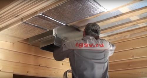 Установка системы с газовым теплонагревателем в частном доме