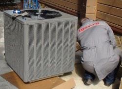 установка блока теплового насоса