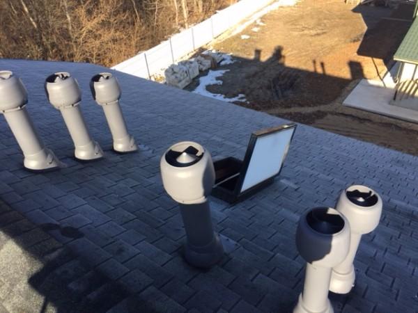 вытяжки и вытяжные вентиляторы на крыше