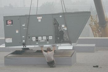 Воздушное отопление производственного помещения