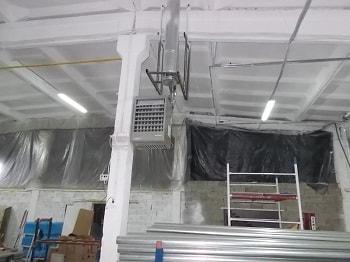 Локальный воздухонагреватель в цеху